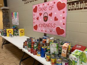 Table with canned food